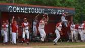 Connetquot players react to John Fiederlein's three-run home