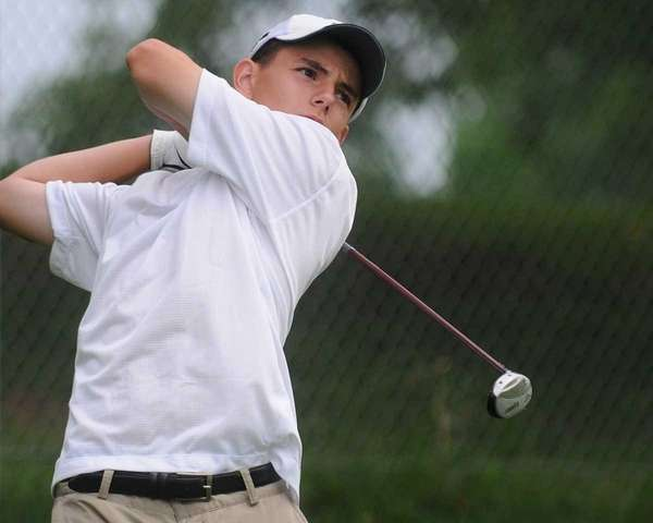 Anthony Russo of Ward Melville tees off on