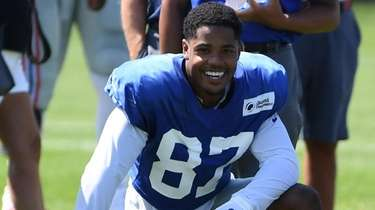 Giants wide receiver Sterling Shepard during training camp