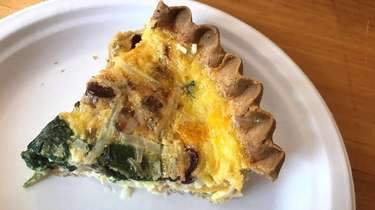 A slice of gluten-free quiche at Wild Flours