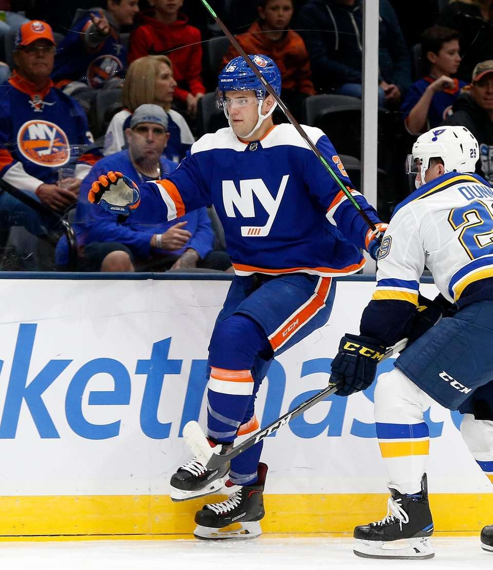 Oliver Wahlstrom #26 of the New York Islanders