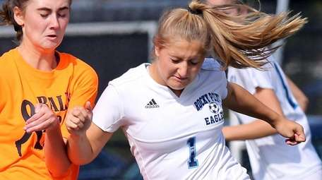 Rocky Point striker Gianna Amendola is tied for