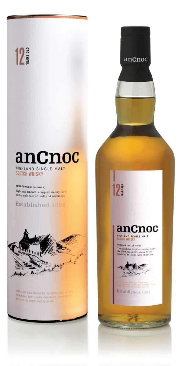anCnoc 12 Years Old single-malt Scotch whisky.