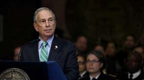 New York City Mayor Michael Bloomberg is shown