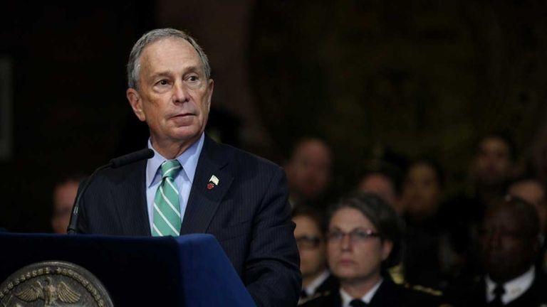 New York City Mayor Michael Bloomberg is shown