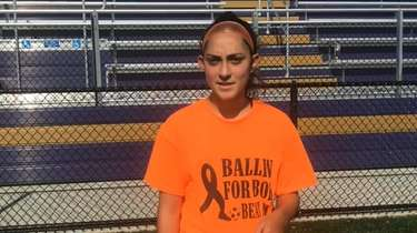 Sayville senior midfielder Elizabeth Argenziano on Monday talked