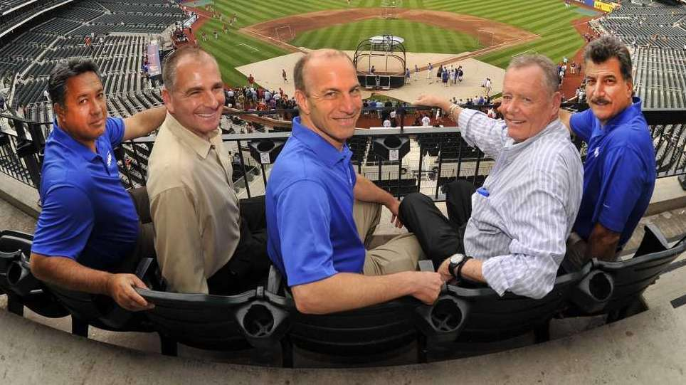 The SNY broadcast team for Mets game, from