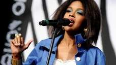 Lauryn Hill performs at L.A. Rising at the