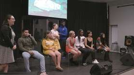 Sixteen Long Island youths showcased their photographs Monday
