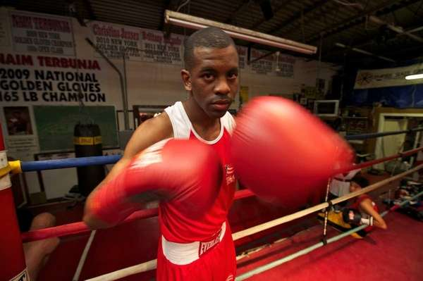 U.S. Olympic boxer Jamel Herring, of Coram, during