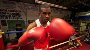 U.S. Olympic boxer Jamel Herring, of Coram, during
