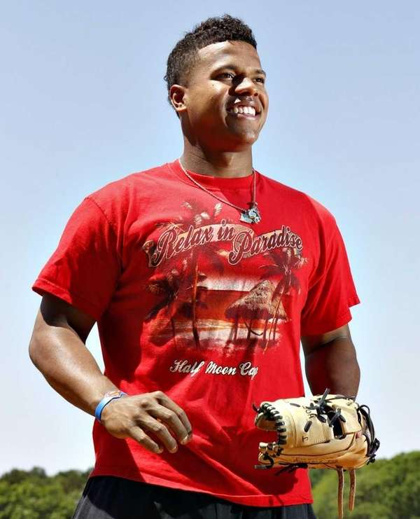 Former Patchogue-Medford High School baseball player Marcus Stroman