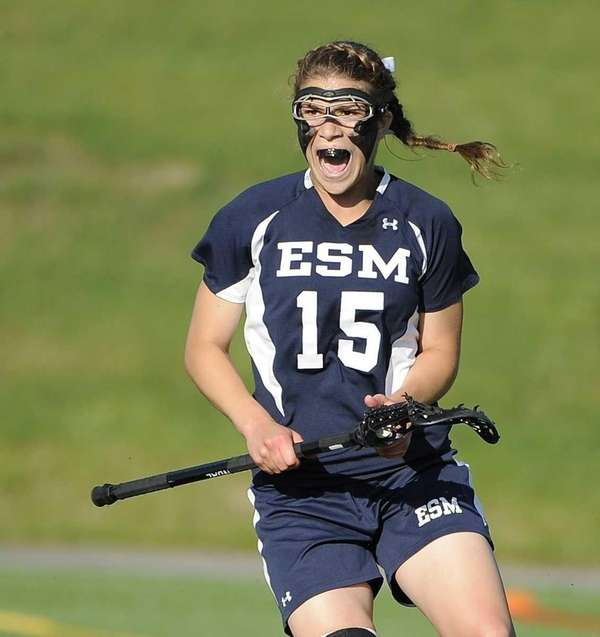 Eastport-South Manor's Dene' DiMartino reacts during the Suffolk