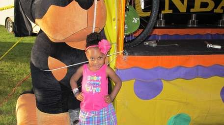 Casey Francis, 3, of Central Islip posed for