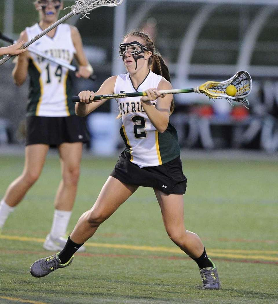 Ward Melville's Kelsey Catalano shoots against Bay Shore
