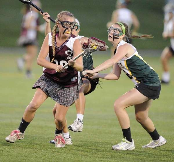 Bay Shore's Kyra Harney controls the ball against
