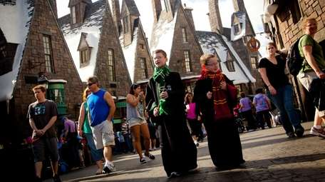 In the Wizarding World of Harry Potter theme