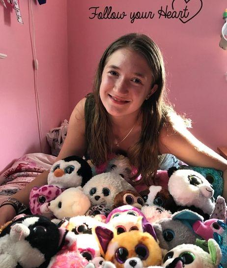 Kidsday reporter Alicia Suss-Pardo with her Beanie Boos