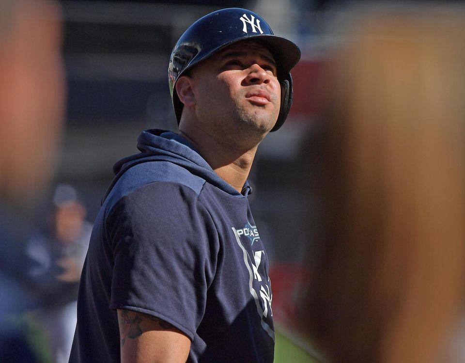 New York Yankees catcher Gary Sanchez (24) during