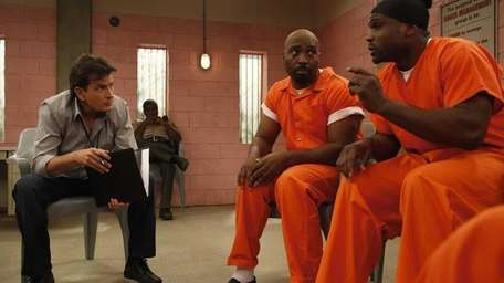 Charlie Sheen, James Black and Darius McCrary in