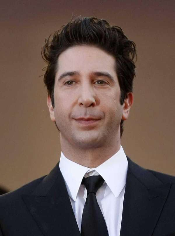 "David Schwimmer arrives for the screening of ""Madagascar"