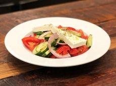 Horiatiki, village salad, is one of the Greek