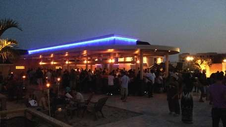 The bar at Tropix, Freeport