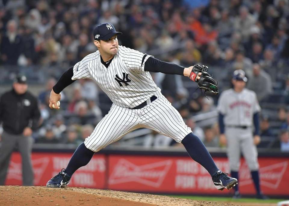 New York Yankees relief pitcher Tommy Kahnle (48)