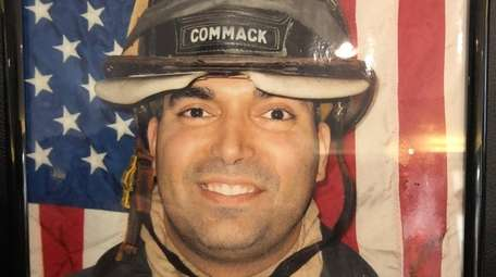 Christopher J. Raguso, picturered in his Commack Fire