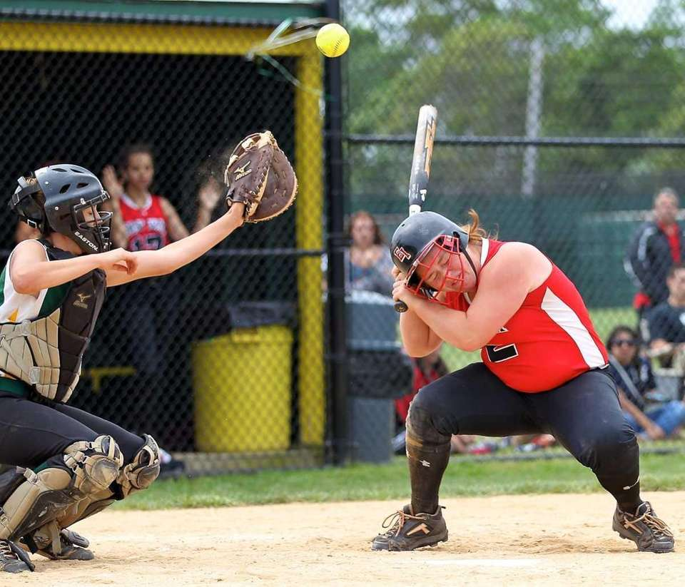 East Islip's Shelby Haywood takes a pitch off