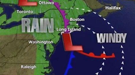 Long Island Weather System Brings Rain Wind Wednesday Newsday
