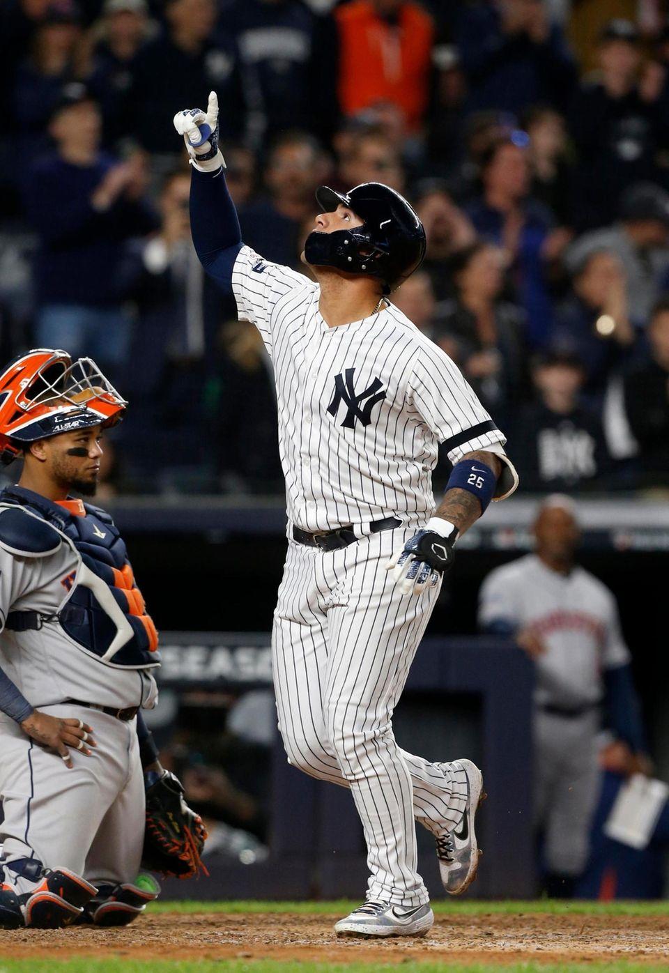 Gleyber Torres #25 of the New York Yankees
