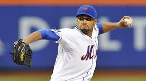 Johan Santana delivers to the plate. (June 1,