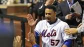 Johan Santana after his no-hitter. (June 1, 2012)