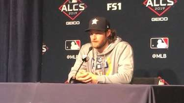 Houston Astros starting pitcher Gerrit Cole and second