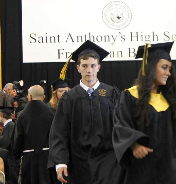 During the Class of 2012 commencement ceremony at