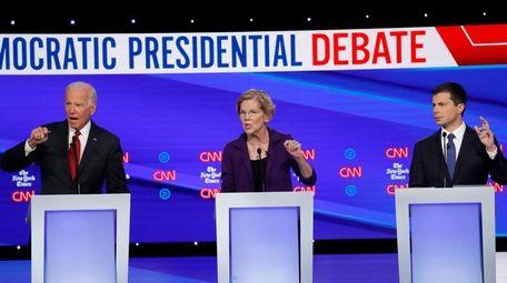 Former Vice President Joe Biden, Sen. Elizabeth Warren