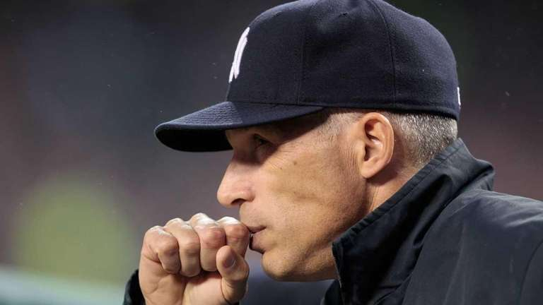 Yankees manager Joe Girardi watches the action during