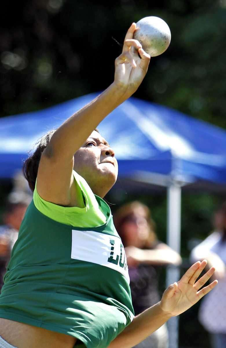 Adaora Nwodili of Longwood won the shot put