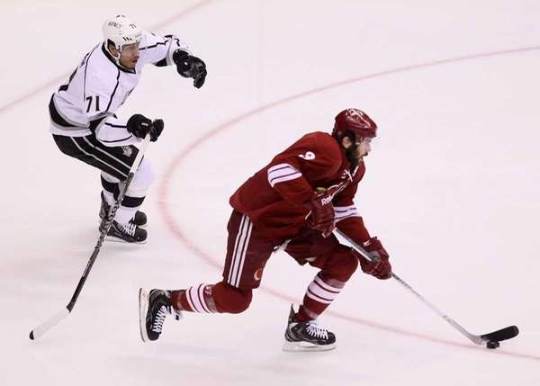 Keith Yandle #3 of the Phoenix Coyotes moves