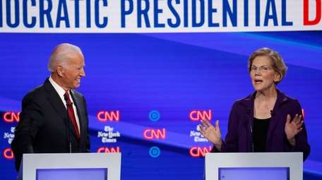Former Vice President Joe Biden and Sen. Elizabeth