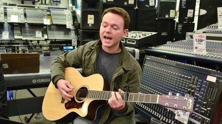 Musician Josh Huizing, 29, of Riverhead, shares a
