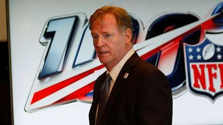 NFL Commissioner Roger Goodell after the NFL owners'