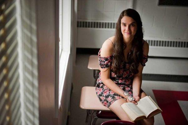 Syosset High School senior Allison Cohen has interned