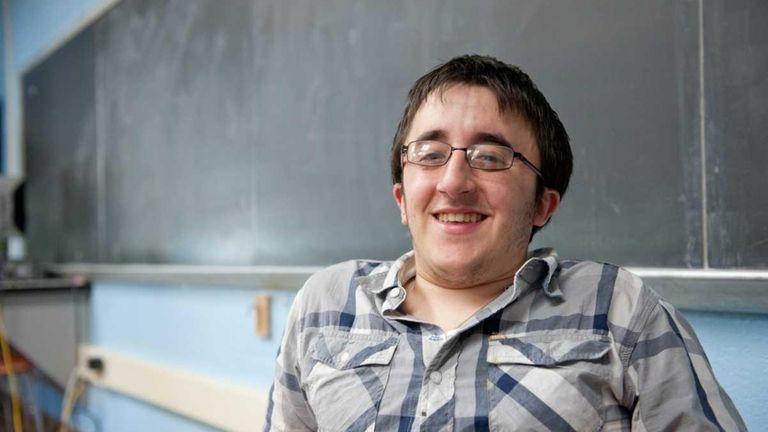 Maurizio Fabrizi, 18, who was born with Osteogenesis