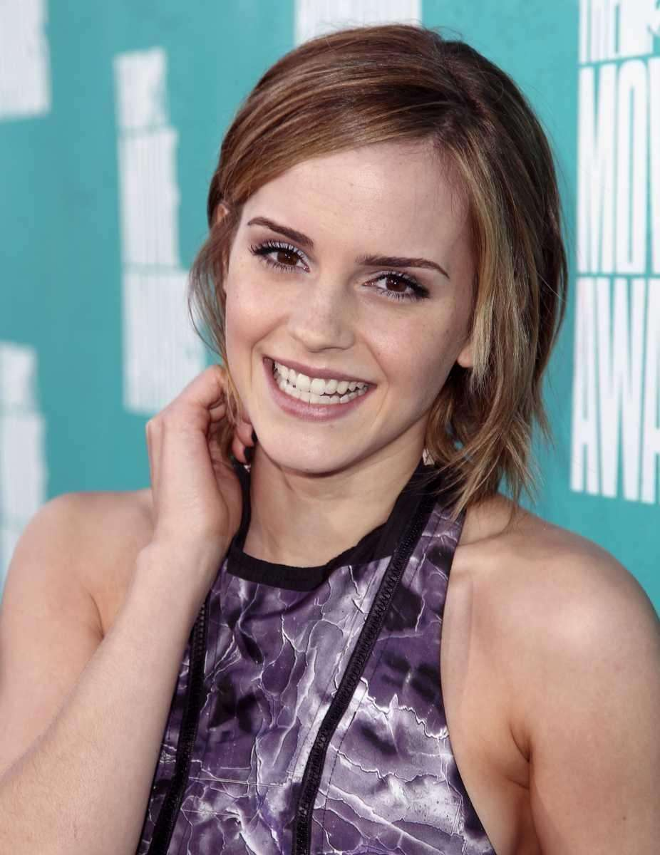 Emma Watson arrives at the MTV Movie Awards.