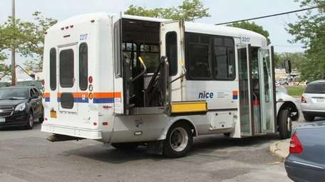 An Able-Ride bus transports a patient from a