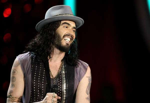 Russell Brand appears onstage at the MTV Movie