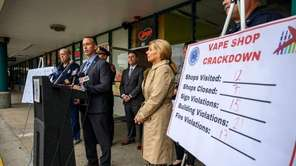 Seven vape shops in Babylon -- including three that were cited