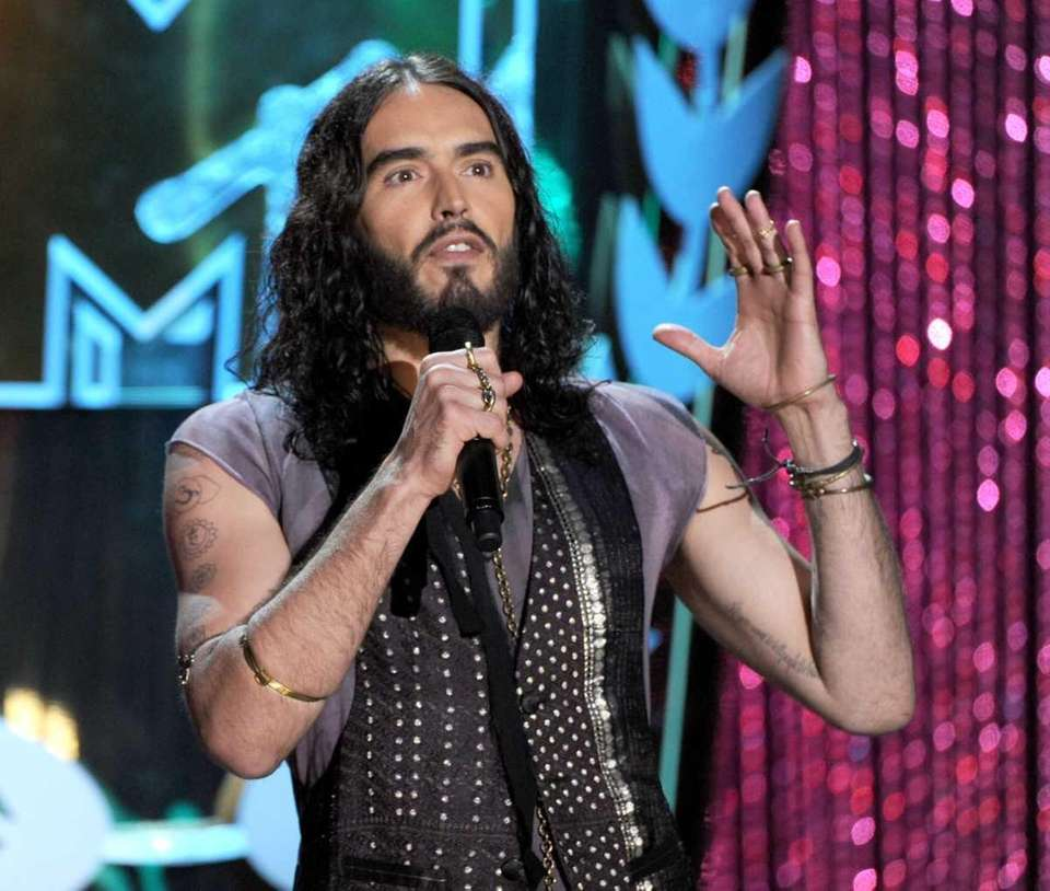Host Russell Brand speaks onstage during the 2012